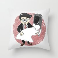 Geek In Love Throw Pillow