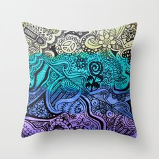 Watercolor Doodle Throw Pillow