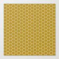Honeycomb Hex Canvas Print