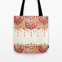 Royal Red Art Deco Doubl… Tote Bag