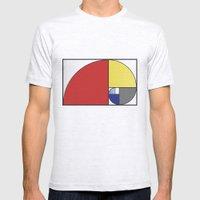 Mondrian Vs Fibonacci Mens Fitted Tee Ash Grey SMALL