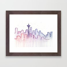 Seattle Framed Art Print