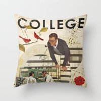 Welcome To... College Throw Pillow