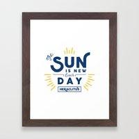 Heraclitus - The sun is new each day Framed Art Print