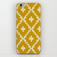 Navajo Diamonds Gold on Ivory iPhone & iPod Skin
