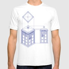 Tardis - Light SMALL White Mens Fitted Tee