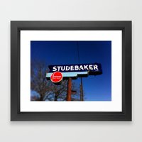 STUDEBAKER LOT SIGN Framed Art Print