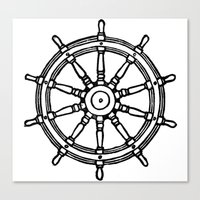 Ship's Helm - Captain's Wheel - Rudder Canvas Print