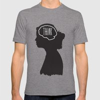 Think Mens Fitted Tee Tri-Grey SMALL