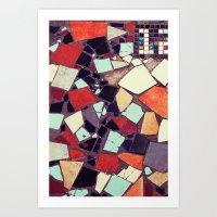 Colorful Abstract Mosaic No.2 Art Print