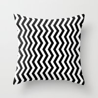PATTERN#01 =STRIPES/BLACK+WHITE= Throw Pillow
