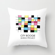 CITY BOOGIE  by ISHISHA PROJECT Throw Pillow