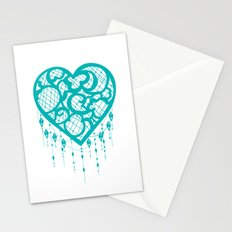 Heart-Catcher Teal Stationery Cards