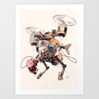 Aerobatic Support Piggie… Art Print