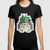 pixel guy Womens Fitted Tee Tri-Black SMALL
