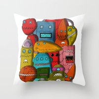 Robots Of Cornwall Throw Pillow