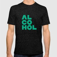 Alcohol Mens Fitted Tee Tri-Black SMALL