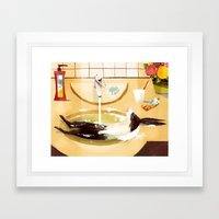 Relaxed Rabbit Framed Art Print
