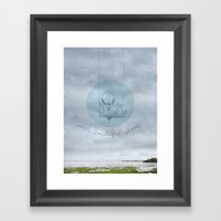 Our beautiful silence. Framed Art Print