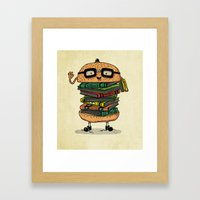 Geek Burger v.2 Framed Art Print