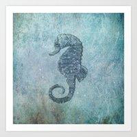 sea & horse Art Print