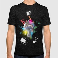 Sydney Tower Abstract Mens Fitted Tee Tri-Black SMALL