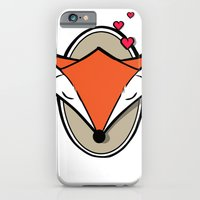iPhone Cases featuring Girl Fox Love by BaronDzines