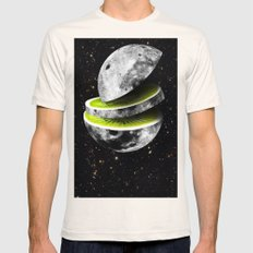 Kiwi Moon Mens Fitted Tee Natural SMALL