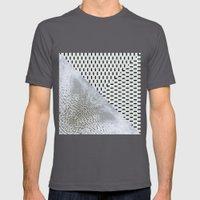 waves/grid #11 Mens Fitted Tee Asphalt SMALL