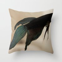 Throw Pillow featuring Betta Fish by Sweet Moments Captured