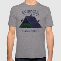 Camp Life Mens Fitted Tee Tri-Grey SMALL