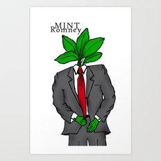 Mint Romney Art Print