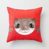 Cute Baby Squirrel Brigh… Throw Pillow