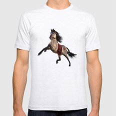 HORSE - Dreamweaver Mens Fitted Tee Ash Grey SMALL