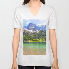 Mountain landscape. Unisex V-Neck