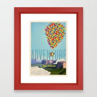 UP - Adventure Is Out Th… Framed Art Print