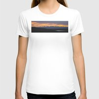 Colorado Vista Sunset Panorama Womens Fitted Tee White SMALL