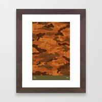 Modern Woodgrain Camoufl… Framed Art Print