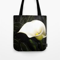 Calla Lily at Night Tote Bag