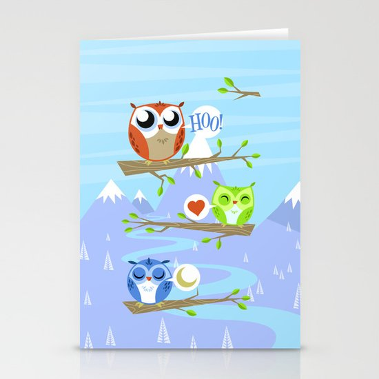 Owl Hangout With You Stationery Card