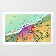 Climb That Mountain Art Print