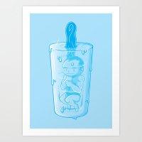 Prehistoric Popsicle Art Print