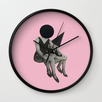 Pink Opaque Wall Clock