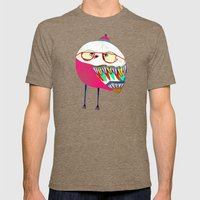 Owls are Cool Mens Fitted Tee Tri-Coffee SMALL