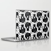 elephants Laptop & iPad Skins featuring Elephants by beach please