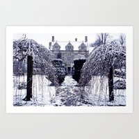 Barnsley House Winter Art Print