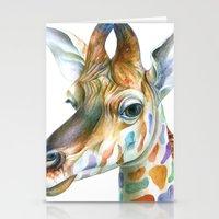 giraffe Stationery Cards featuring Giraffe by Brandon Keehner