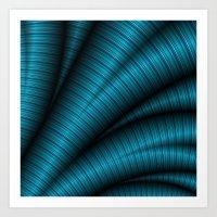 Blue Fractal Art Art Print