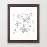 Hummingbird's Garden: Home Framed Art Print