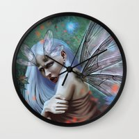 Dragonfly lady Wall Clock